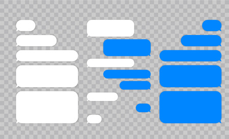 Message chat bubbles vector icons for messenger. Template for message chat. Vector illustration Фото со стока - 108307961