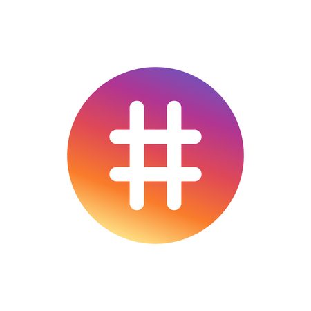 Hashtag. Number sign, hash, or pound sign Vector Illustration