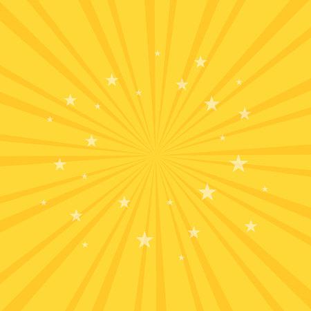 Swirling radial pattern stars background. Vortex starburst spiral twirl square. Helix rotation rays. Fun sun light beams. Vector illustration