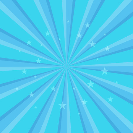Swirling radial pattern stars background. Vortex starburst spiral twirl square. Helix rotation rays. Fun sun light beams. Vector illustration
