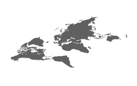 World Map in Isometric. Concept for infographic. Vector illustaration