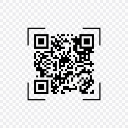 Scan QR code, symbol, app. Electronic , digital technology, barcode. Vector illustration.
