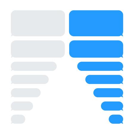 Message bulles vecteur de chat. Modèle vectoriel d'icônes de boîtes de chat de bulles de message.