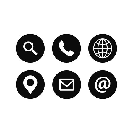 Web Icons set. Universal web icon to use in web and mobile UI, set of basic UI web elements. Vector illustration.
