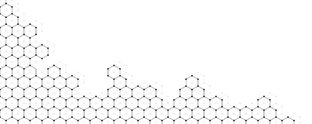 Vector banner design, abstract geometric pattern with lines, white background with hexagon pattern Иллюстрация