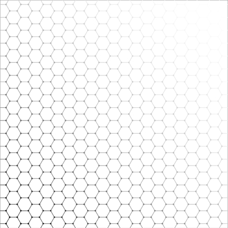 Vector banner design, abstract geometric pattern with lines, white background with hexagon pattern Illustration