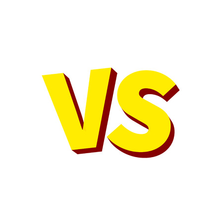 Versus VS letters fight. Versus text brush painting letters. Vector illustration.