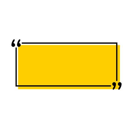 Zitate Symbol Vektor. Anführungszeichen-Umriss, Sprachzeichen, Anführungszeichen oder Sprechzeichen-Auflistung. Vektorlinie Kunstillustration lokalisiert auf weißem Hintergrund Vektorgrafik
