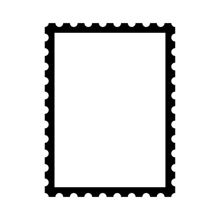 Blank postage stamp. Clean postage stamp template. Postage icon. Ilustrace