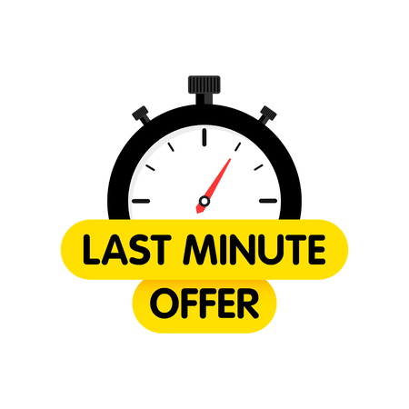 Last chance. Last minute offer banners. Time. E-commerce and shopping. Vector illustration.