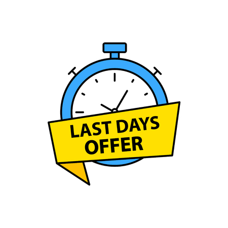 Last chance. Last minute offer banners. Time. E-commerce and shopping. Vector illustration