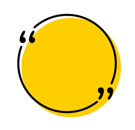 Citations icône vecteur. Contour de guillemets, marques de discours, guillemets ou collection de marques parlantes. Illustration d'art de ligne vectorielle isolée sur fond blanc