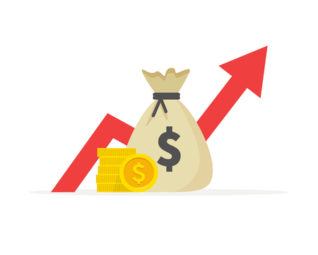 Financial performance, dollar business productivity, statistic report, mutual fund, return on investment, finance consolidation, budget planning and management, income growth concept