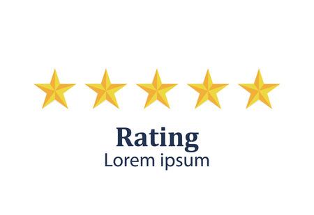 Star rating. Feedback concept. Evaluation system. Positive review. Vector illustration flat design. Isolated on white background. Good work Reklamní fotografie - 121029339