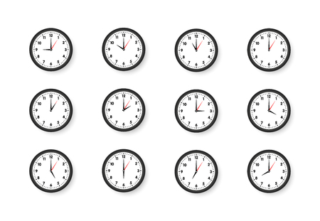 clock Isolated on white background vector illustration