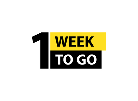 Número 1 de la semana que queda para ir. Venta de insignias de colección, página de destino, banner