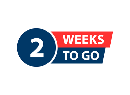 Number 2 of weeks left to go. Collection badges sale, landing page, banner