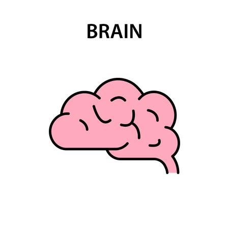 Brain icon. Creative idea symbol. Brainstorm Vector illustration