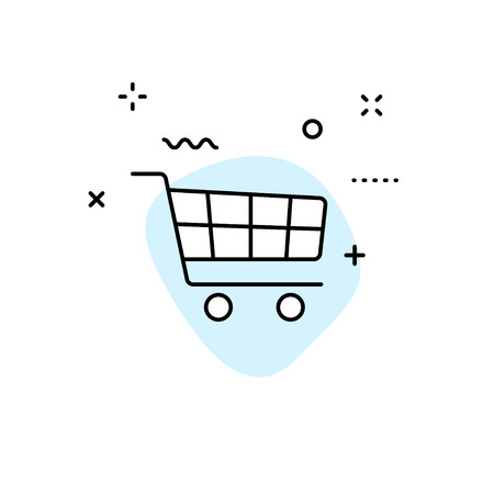 E-commerce and shopping web icons in line style. Mobile Shop, Digital marketing, Bank Card, Gifts. Vector illustration