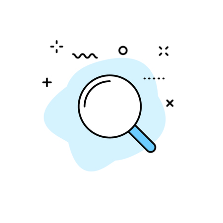 Magnifying glass. Search web icon. Vector illustration Illustration