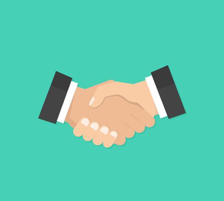 Partnership. Shake hands, agreement, good deal, handshake concepts. Modern flat design graphic elements. Vector illustration