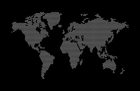 Carte du monde vectoriel abstrait. Carte du monde de point. Illustration vectorielle Vecteurs