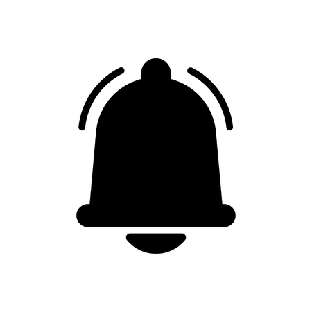 Notifications bell icons set with bell and different elements. For incoming inbox message. Modern vector illustration, flat design Иллюстрация