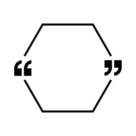 Vector icono de cotizaciones. Contorno de comillas, marcas de habla, comas invertidas o colección de marcas de conversación Ilustración de arte de línea de vector aislado sobre fondo blanco