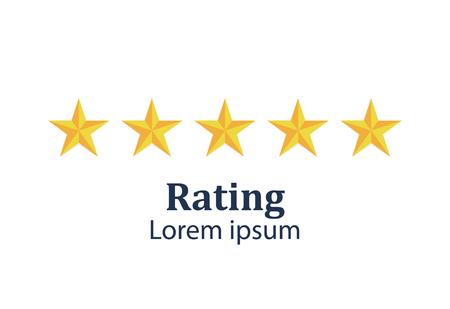 Star rating. Feedback concept. Evaluation system. Positive review. Vector illustration flat design. Isolated on white background. Good work Reklamní fotografie - 121489632