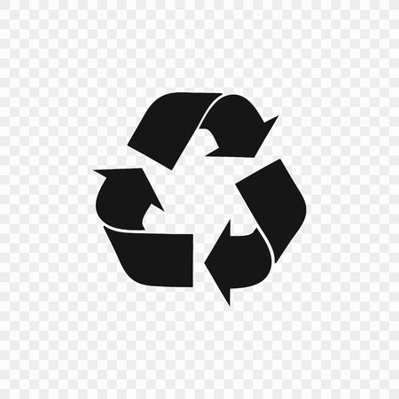 Plastic recycle symbol, icon. Vector illustration