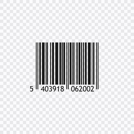 Vector realistic barcode isolated on white background Vektorové ilustrace