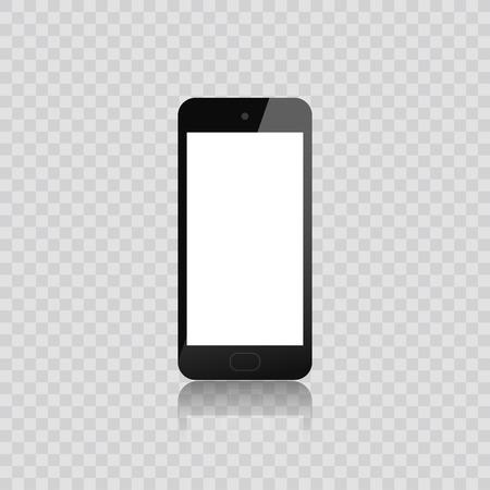 Realistic smartphone. Set realistic smartphone. Phone black. Flat cartoon design, vector illustration on background
