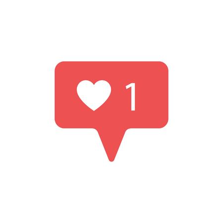 New Counter Notification Icon. Follower. New Icon like 1 symbol, button. Social media like insta ui, app. Vector illustration Ilustrace