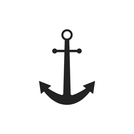 Anchor. Nautical logo icon maritime sea ocean boat symbol. Vector illustration Illustration