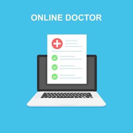 Healthcare, diagnostics and online medical. Online healthcare and medical consultation. Medical exams and medical help, diagnostics, analysis 일러스트