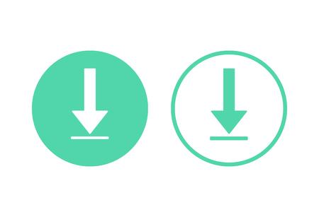 Icono de reducción de costes y conjunto de colección de iconos de descarga. Imagen aislada sobre fondo blanco. Ilustración vectorial