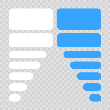 Message bubbles chat vector. Vector template of message bubbles chat boxes icons  イラスト・ベクター素材