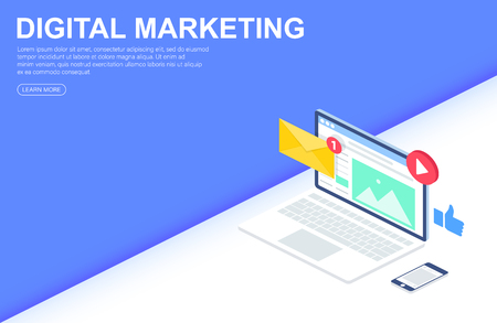 Digital Marketing Agency, Content Sharing  Web Banner, Infographics