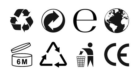 Packaging symbols set, packaging icons. Vector illustraion 向量圖像