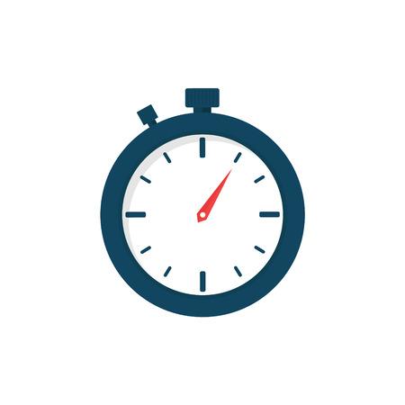 Stopwatch. Sport clock. Flat design, vector illustration on background Ilustração
