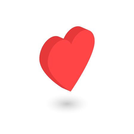 Love heart isometric icon concept. 3d concept. Vector illustration Imagens - 122792260