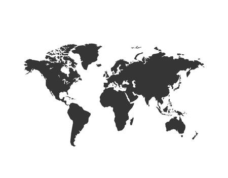 World map vector isolated on white background. Globe worldmap icon Stock Illustratie