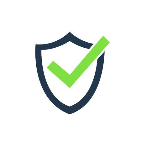 Tick mark approved icon vector illustration on white background