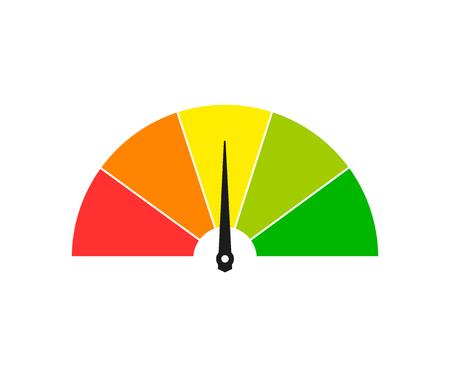 Icône de compteur de vitesse. Compteurs de vitesse de téléchargement rapide et lent, test de vitesse. illustration vectorielle isolée sur fond blanc