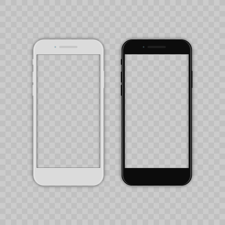 Realistic smartphone. Flat cartoon design, vector illustration on background