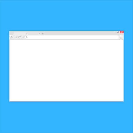 Browserfenster. Webbrowser im flachen Stil. Fensterkonzept Internetbrowser. Mockup-Bildschirmdesign. Vektorillustrationskonzept Vektorgrafik