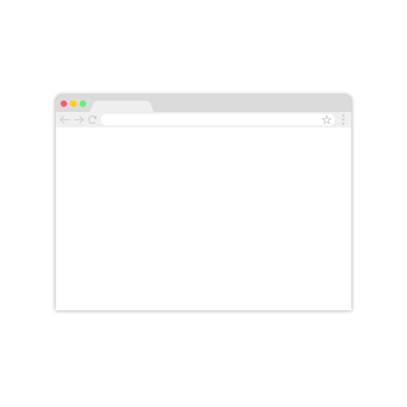 Browser window.Web browser in flat style. Window concept internet browser. Mockup screen design. Vector illustration concept