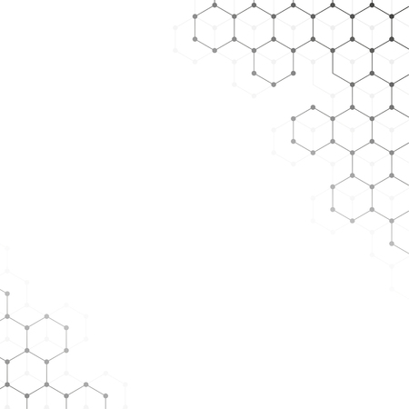 Vector banner design, abstract geometric pattern with lines, white background with hexagon pattern 向量圖像