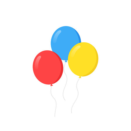 Balloons. Flat design, vector illustration on background