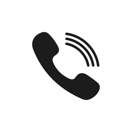 Phone icon in trendy flat style isolated on grey background. Handset icon with waves. Telephone symbol for your design, logo, UI. Vector illustration, EPS10